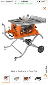 BRAND NEW RIDGID TABLE SAW NEVER USED 500$ OBO