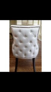 Tufted back dining chairs
