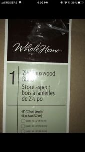 WOOD BLINDS BRAND NEW IN BOX