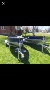LIKE NEW 12' BOAT AND TRAILER COMBO