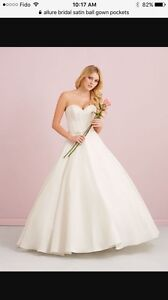 Allure Romance Satin wedding Ballgown size 10