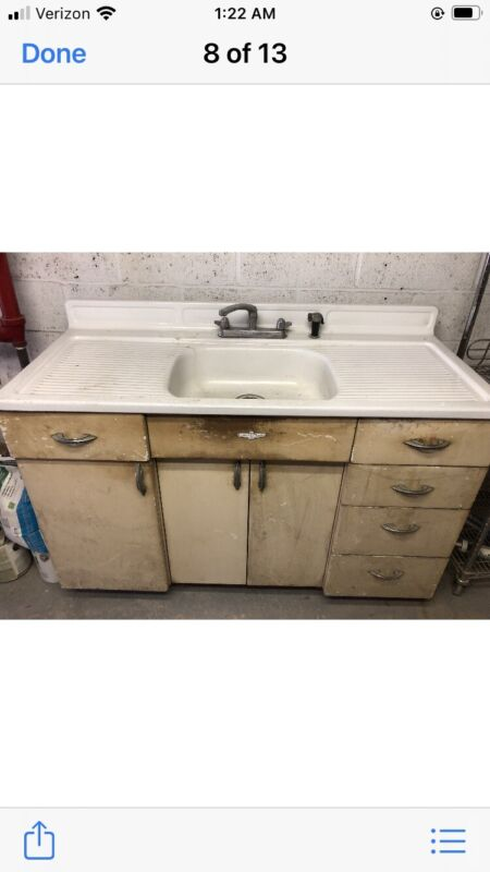 Vintage Youngstown Kitchen With Sink