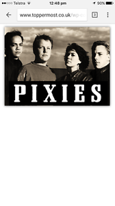 2 x Pixies tickets Erskineville Inner Sydney Preview