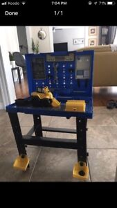 Kids work tool bench with put together truck