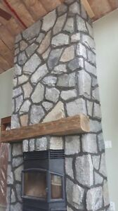 Timber mantel