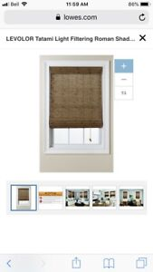 Brand New Levolor Tatami Bamboo Blind w Privacy Liner