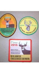 Wanted MNR hunting crests.   Bear moose deer