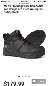 Men's Pro Ridgework Composite Toe Waterproof Safety Boots