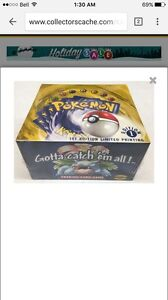 Looking for Pokemon base set booster boxes