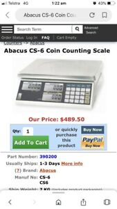 Abacus CS-6 coin scales Bell Post Hill Geelong City Preview
