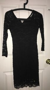 Women's Guess 3/4 sleeve black lace dress Size Small