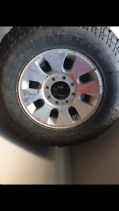 F350 studded winter tires and rims
