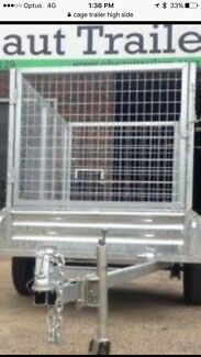 9x5 double axel cage trailer  still new as can be ,
