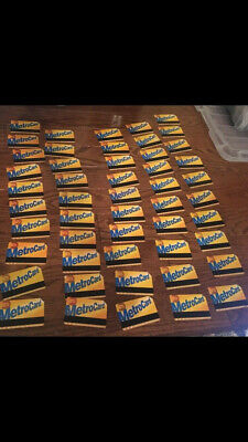 All Expired MetroCards - Lot of 50 assorted expired cards