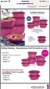 Special Offer for Tupperware Crystalwave  Plus 2 pc Containers