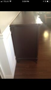 Solid French provincial wood wall unit.. excellent condition