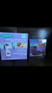 Manual breast pump + hot/cold gel therapy pads