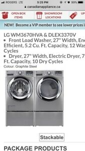 Lg twin washer and dryer