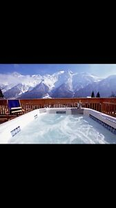 Chalet with hot tub for Christmas