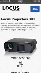 Locus Projector L300 and screen