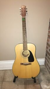 Fender Acoustic Guitar with Case & Stand