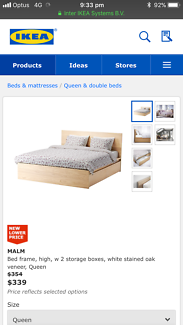 Queen IKEA bed and mattress - cheap!!