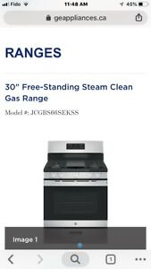 GE JCGBS66SEKSS gas stove with installation:$1200 cash