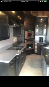 Kitchen, new appliances, and island