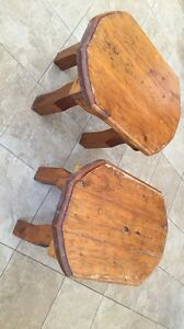 Two Solid Wood Matching End Tables