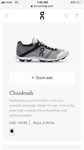 BRAND NEW ON CLOUD SHOES