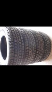 4 just like new snow tires  caravan or  Journey tires and wheels
