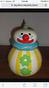 Toy Story Roly Poly Clown Replica- Bo Trixie Rex Chuckles Wheezy Rocky Pete