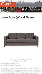 Tufted Gus* Mid Century Modern Sofa