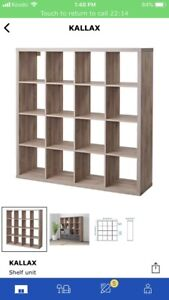 IKEA Kallax cube shelf 4x4