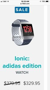 BRAND NEW in box Fitbit ionic addidas version