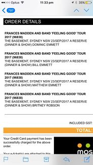 4 x Frances Madden and Band 'Feeling Good' tour