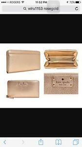 Kate spade zip up leather wallet/clutch