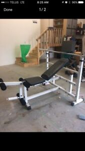 Keys Fitness Olympic Weight Bench /w Leg Attachment