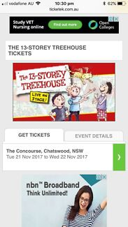 2 x tickets for the 13 Storey Treehouse (Chatswood)