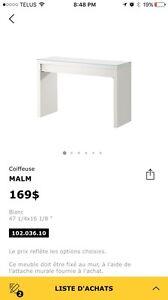Coiffeuse MALM blanche IKEA