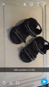 Toddler sz 4-5nike sandals, Velcro sandles and new holey shoes