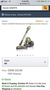 New Hoover Windtunnel Air Bagless Canister Vacuum