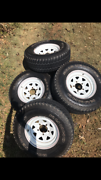 4 x wheels and tyres off 70 series toyota landcruiser 265/75R16 Mount Cotton Redland Area Preview