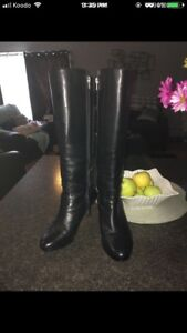 Tall leather Rockport Boots worn 2-3 times