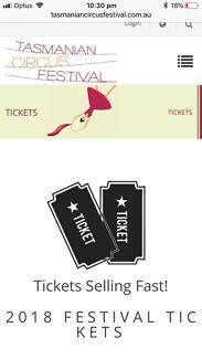 Cheap circus festival tickets