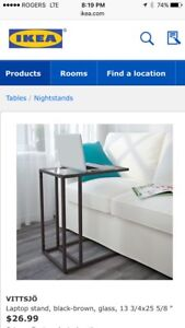 Two IKEA end tables