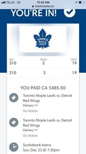 Detroit Red Wings at Leafs (Dec. 23, 2018)