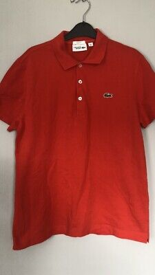 MENS LACOSTE SPORT POLO SHIRT (Slim Fit) Red SIZE 5 ( Large ) Great Condition