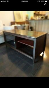 Solid Brazilian cherry wood tv console