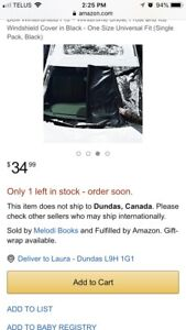 New never used wintershield car window cover